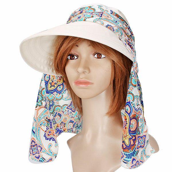 Summer Outdoor Sun Protective Gardening Hat Sun Hat Anti-UV Wide Brim Visor Cap