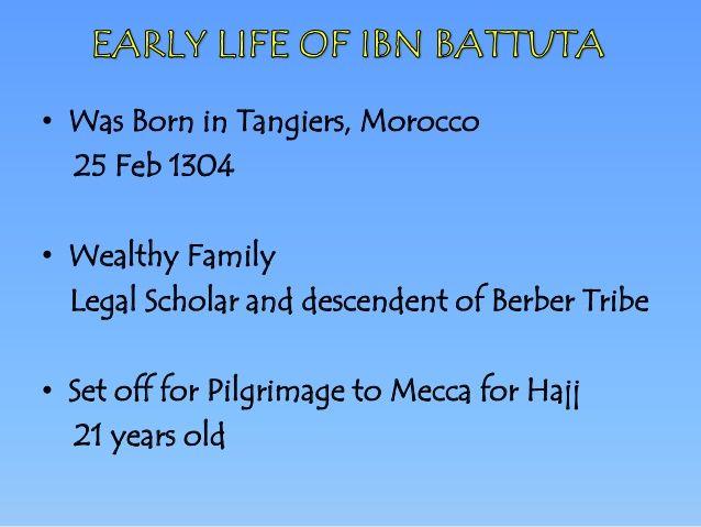 Ibn Battuta Presentation Pilgrimage To Mecca