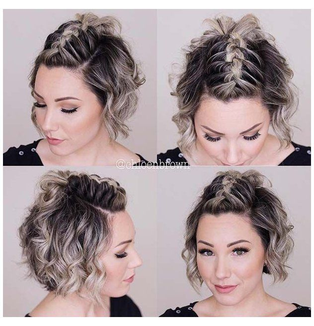 23 Quick And Easy Braids For Short Hair Quickbraids Easybraids Shorthair Shorthairstyles Crazyforus 2 Braids For Short Hair Easy Braids Thick Hair Styles