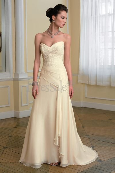 Pale Yellow Wedding Dress  JESSY YOU WOULD LOOK AMAZING IN THIS!