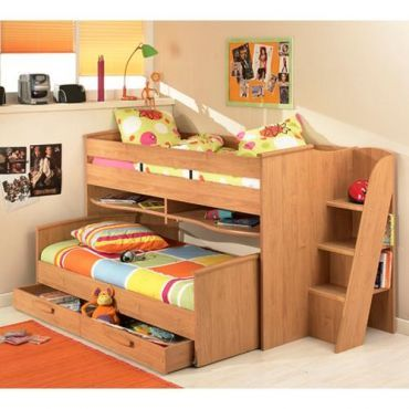 Gami montana cabin bed manufactured for low height rooms for Cabin beds for small rooms