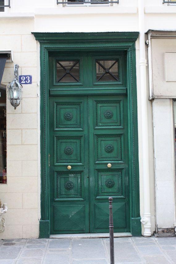 Emerald Green Door Paris Photography Love This Color