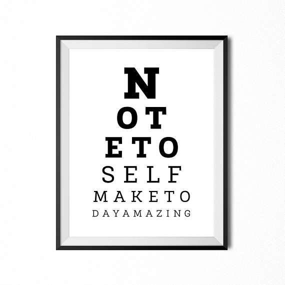 Eyesight Test Print Printable Wall Art Inspirational
