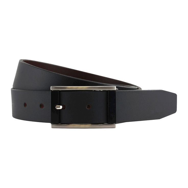 The British Belt Co. Men's Burnett Leather Reversible Belt Black/Brown 40, Black Brown