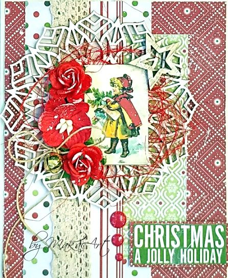My journey through the Scrapbookworld...: *Christmas Cards 2017 - Card by following a recipe*