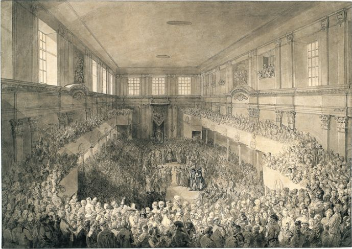 Jean Pierre Norblin de la Gourdaine: Signing of the 3 May Constitution, 1791. source: National Library