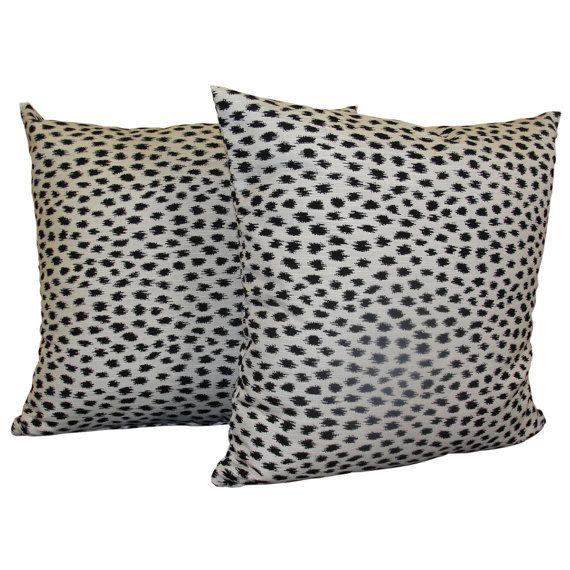 Set of 2 Sunbrella AGRA Throw Pillow Covers, Animal Print Pillow Covers, Indoor Outdoor Pillows, Sunbrella Pillows, Accent Throw Pillows