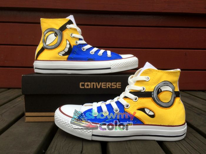 Find More Women's Fashion Sneakers Information about Minions Despicable Me Converse Men Women Custom Hand Painted Sneakers Canvas Shoes,High Quality canvas women shoes,China canvas sailing shoes Suppliers, Cheap canvas kids shoes from Show my color_ Best AliExpress Brand of 2015 on Aliexpress.com