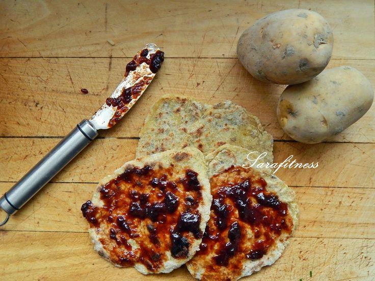 Zdravé bramborové placky s domácími povidly