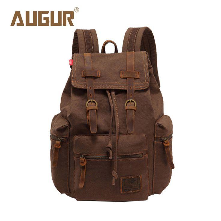 AUGUR New Brand Fashion Men's Backpack Leisure Retro Canvas Bag Women Backpacks For Teenage Girls School Bag AG0021 -  http://mixre.com/augur-new-brand-fashion-mens-backpack-leisure-retro-canvas-bag-women-backpacks-for-teenage-girls-school-bag-ag0021/  #Backpacks
