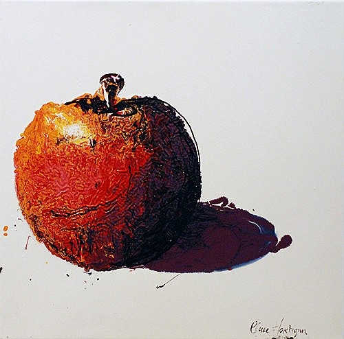 """Clare Hartigan """"Teacher's Apple"""" #irishart #apple #DukeStreetGallery #art #painting"""