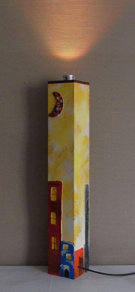 #Piantana Lampada da terra dipinta a mano con telecomando multicolor