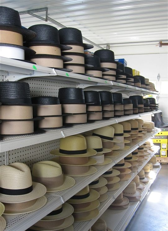 Amish hats in #Nappanee. I own two from this #Amish general store. #Yoder
