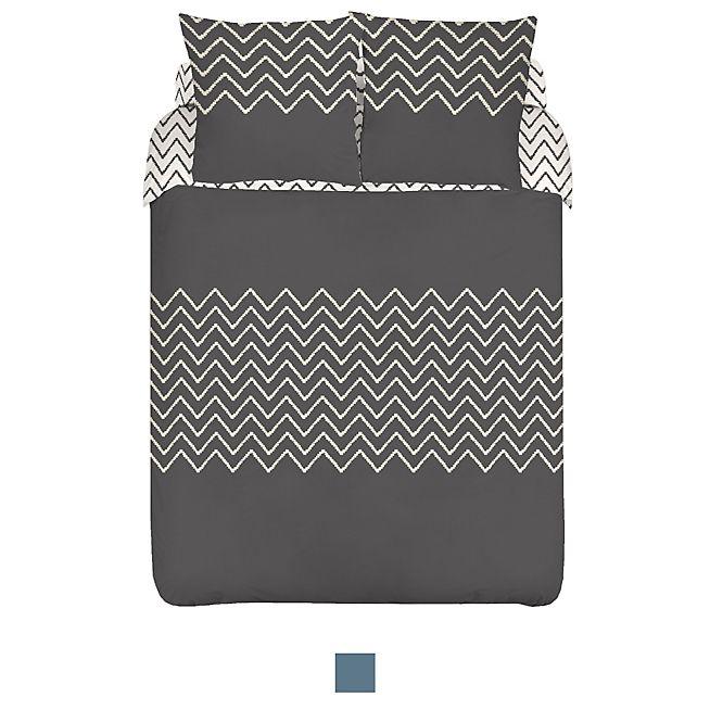Chevron Text. Housse de couette et 2 taies d'oreiller (plusieurs tailles disponibles)