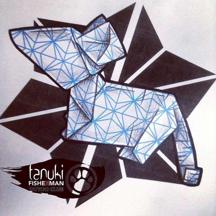 Mouse Origami tattoo