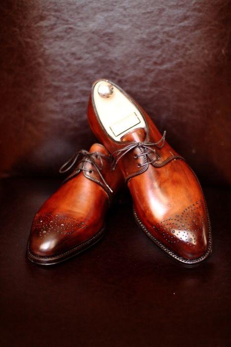 Fine burnished shoes fromBontoni