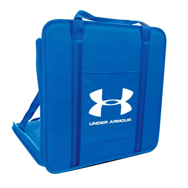 Portable Stadium Seat - Portable Stadium seat is constructed with 600D polyester, fiberglass rods for back support, front slip pocket, and carry handles.