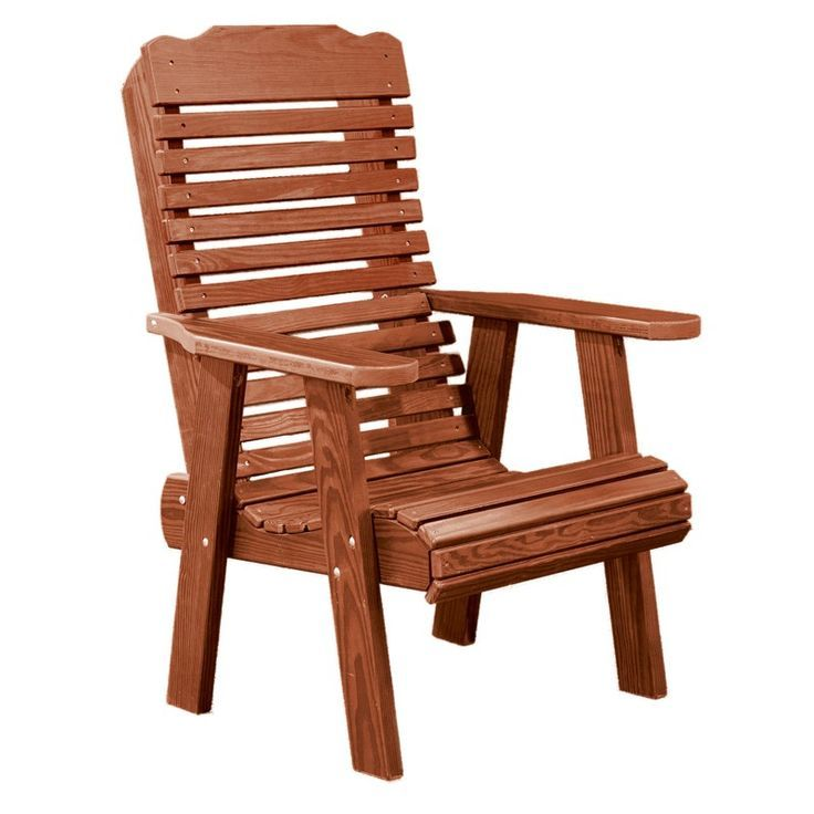 Amish Contoured Patio Chair Outdoor Wood Furniture Plans