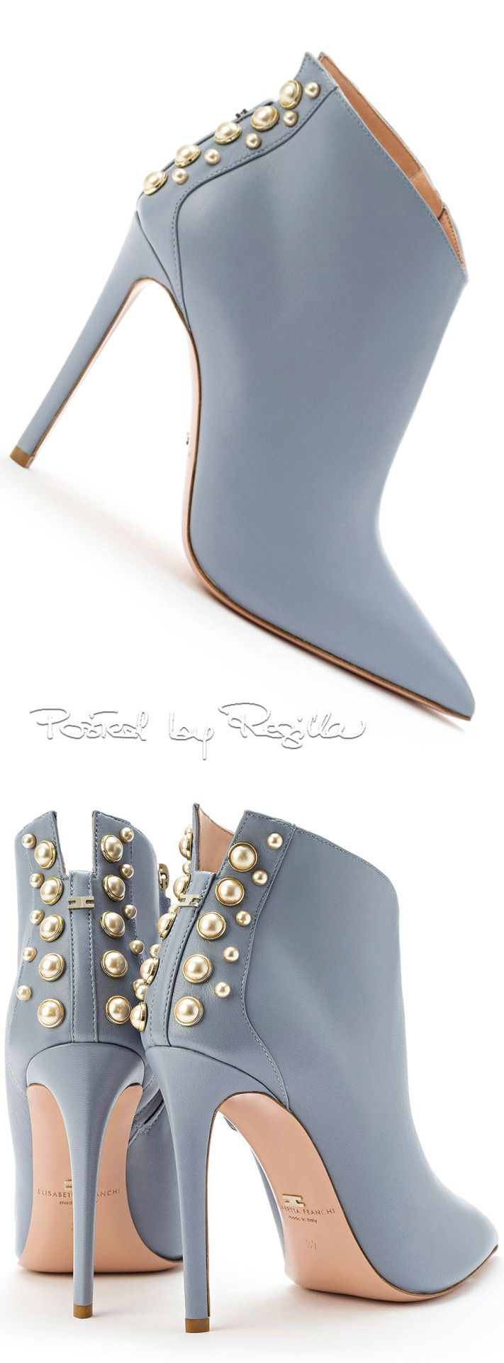 Elisabetta Franchi....I am in love with this blue & with all the neutral clothing i have...these shoes would shine!!