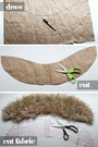 DIY Faux Fur Stole from Syl&Sam
