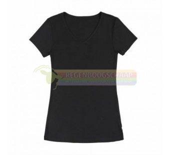 Joha tshirt zwart wol/zijde