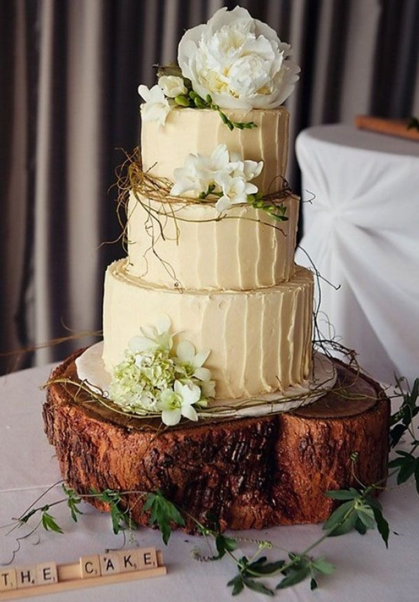 Add a few more earth tones and perfect laid back christmas wedding cake