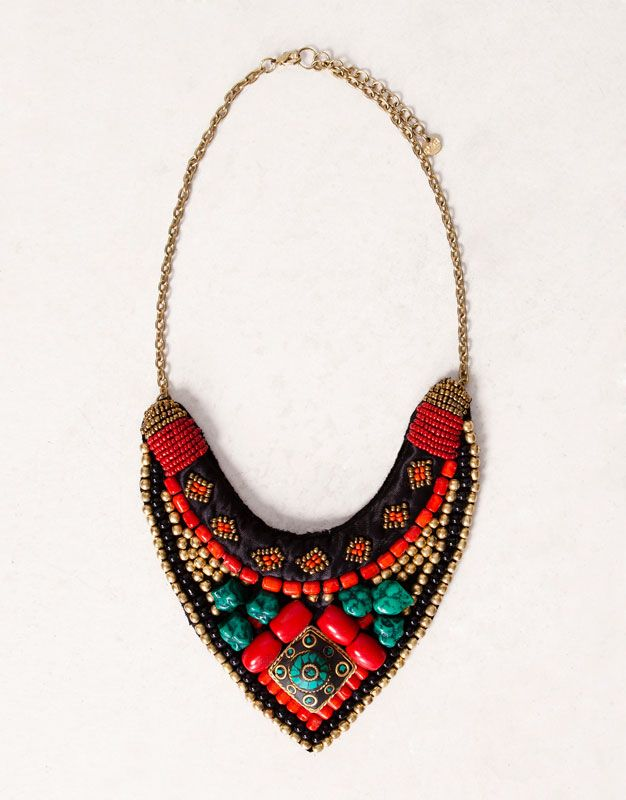 ETHNIC BIB NECKLACE - New products - WOMAN - Romania