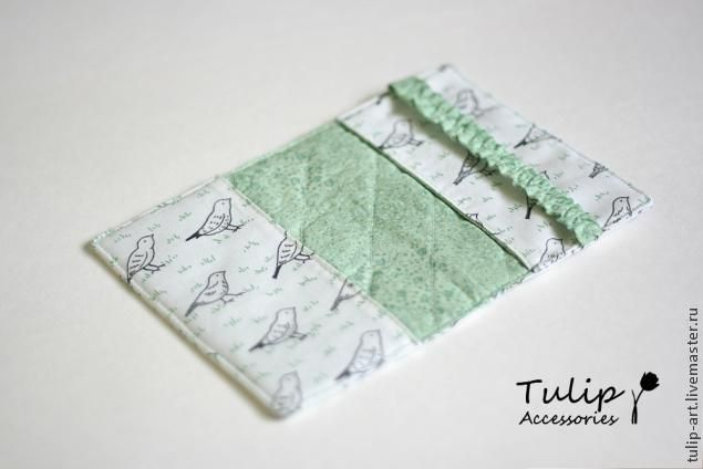 Текстильная обложка на паспорт