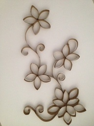 wall art made from toilet paper rolls - Google Search