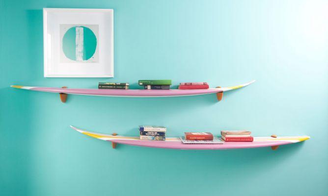 baldas con tabla de surf