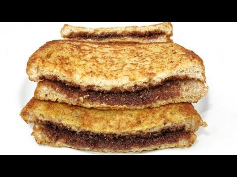 HOT CHOCOLATE FRENCH TOAST - YouTube  2 Eggs 2 Tablespoons of milk 1 Teaspoon of vanilla essence Chocolate frosting Butter