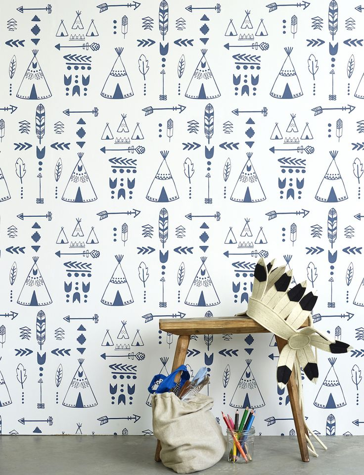New Teepees Wallpaper From Hibou Home — Heart Home