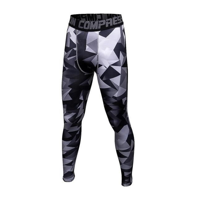 2018 Joggers Men Compression Pants Tights Casual Bodybuilding Man Trousers Camouflage Army Fitness Gyms Skinny Leggings