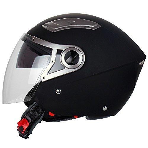 Oferta: 64.95€ Dto: -41%. Comprar Ofertas de Mach1 - Jet Casco de motorista Moto con visera traslúcida, color negro mate barato. ¡Mira las ofertas!