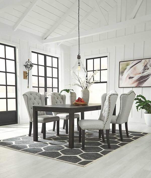 Jeanette Exclusive 5 Pc Dining Wupholstered Chairs Dining Room