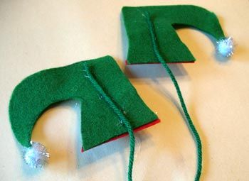 Manualidades de navidad con fieltro: zapatos de duende colgantes ...