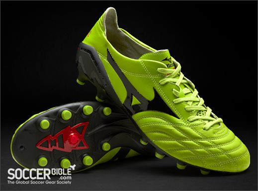 Mizuno Morelia Neo Football Boots - Green/Black/Red http://www.soccerbible.com/news/football-boots/archive/2011/11/28/mizuno-morelia-neo-football-boots-green-black-red.aspx
