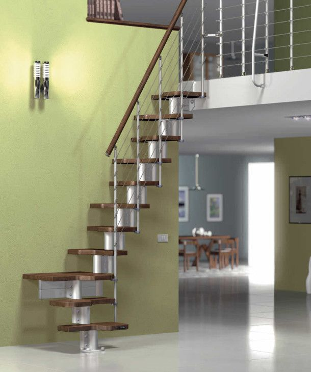 Staircases For Small Spaces Quarterturn Staircase With Modular Central Modular Stringer - pictures, photos, images