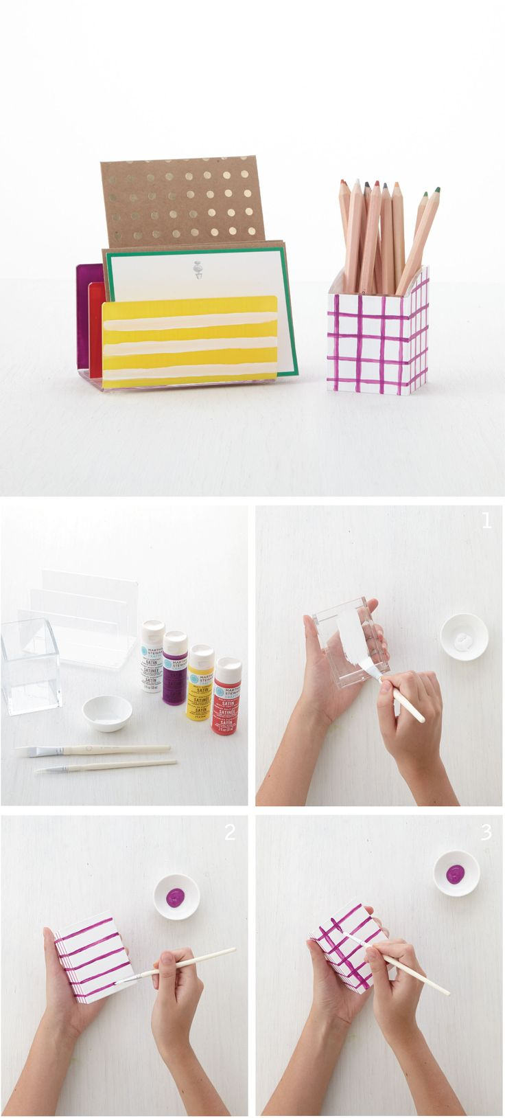 Chromatic desk organizer crafts colors and acrylics - Martha stewart desk organizer ...