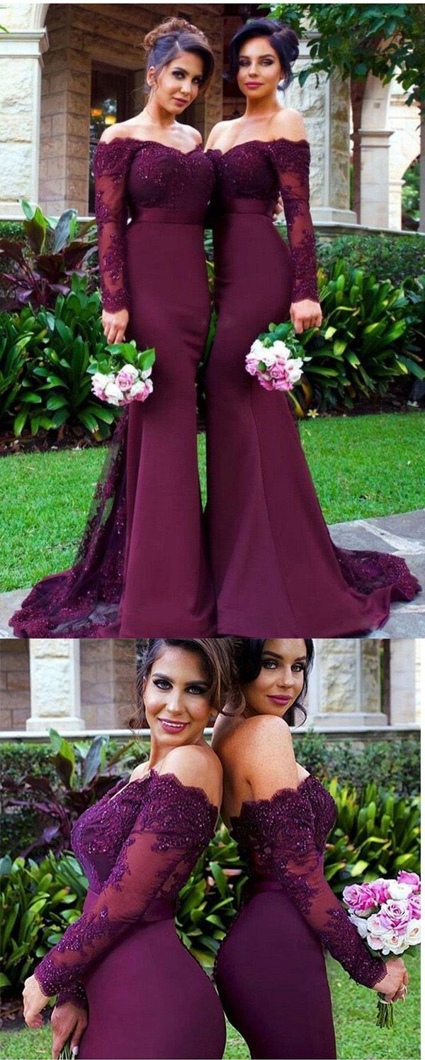 Mother of the Bridesmaid Dresses,Grape Lace Bridesmaid Dress,Custom Made Mermaid Bridesmaid Dresses, Sexy Sheath Prom Evening Dresses,Formal Women Dress
