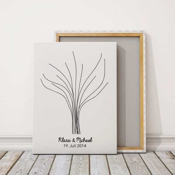 Weddingtree auf Leinwand | Baum3 von for magic moments auf DaWanda.com