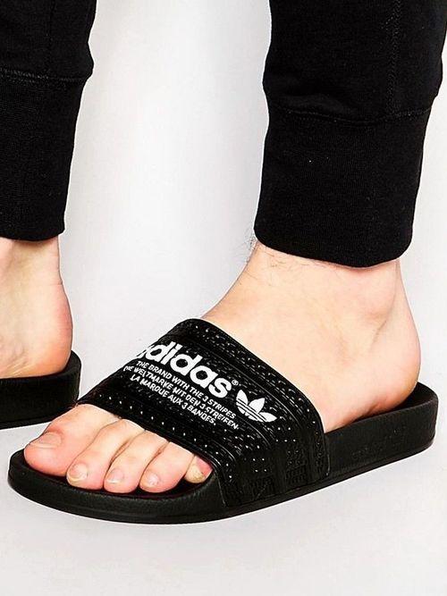 new concept a81f9 36cfc Mens Sliders, Adidas Flip Flops, Summer Flats, Adidas Slides, Puma,  Timberland
