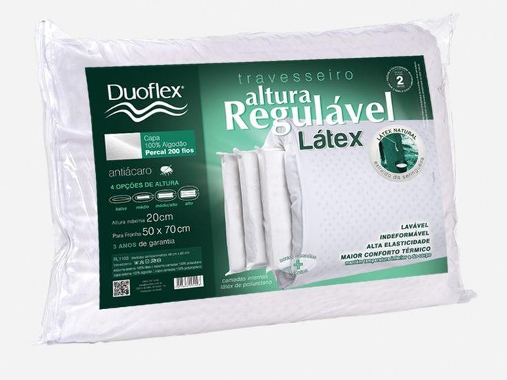 [Uau e Marti] Travesseiro Altura Regulável Látex - Duoflex- R$ 143,91 (Boleto)