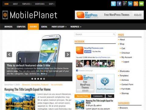 MobilePlanet WordPress theme