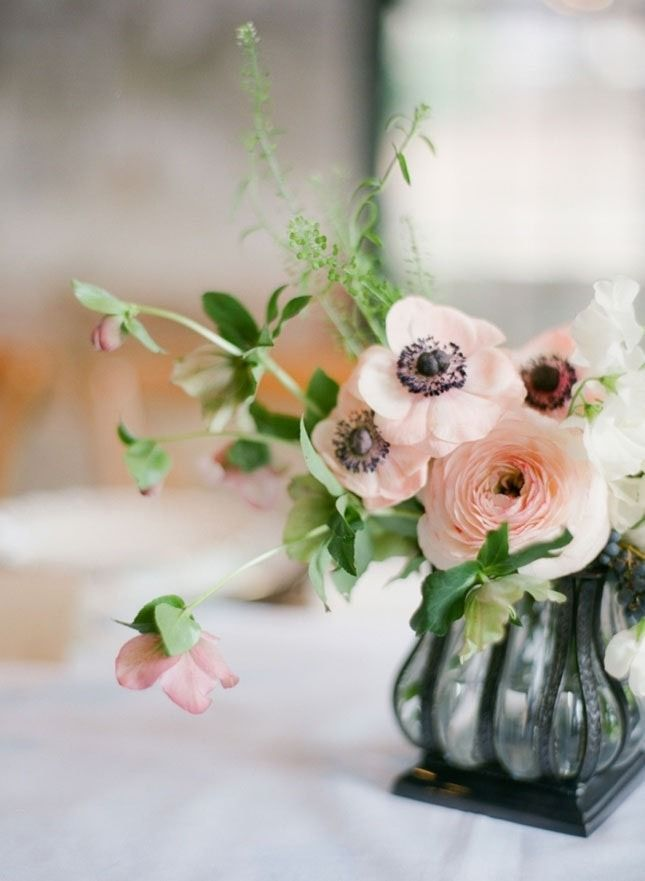 Ranunculus + anemone join forces for a whimsical bouquet.
