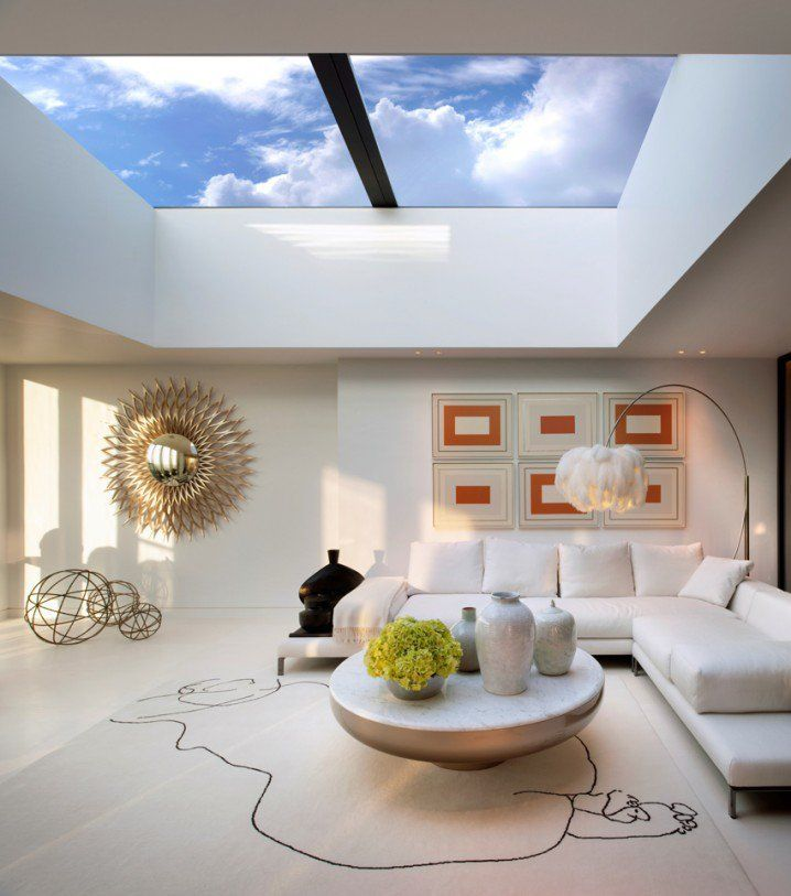Urban Living Spaces With Sky View Ceiling, Heron Penthouse Apartments.