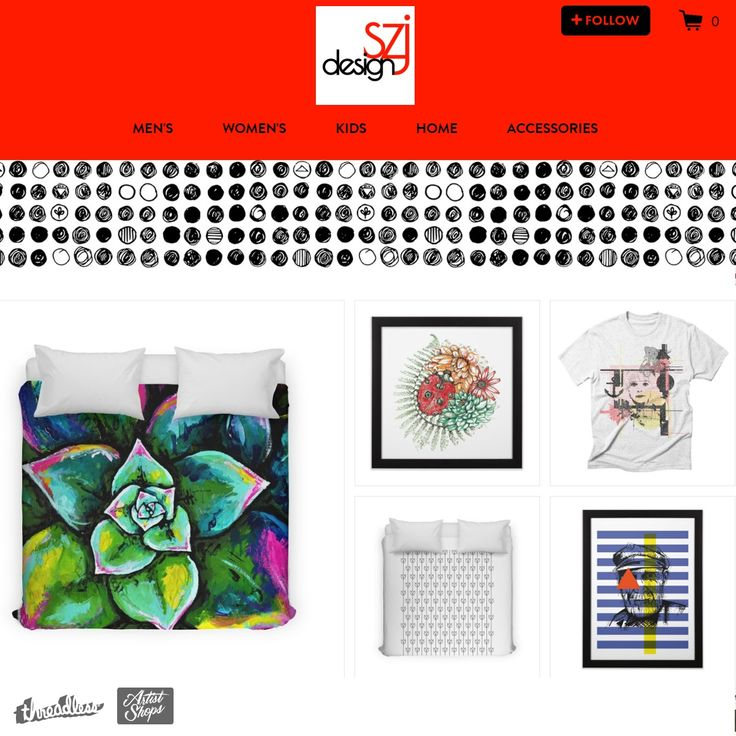 szjdesign's Artist Shop on Threadless - voting - 5 - printed tee - t-shirts - bedding design - wall art