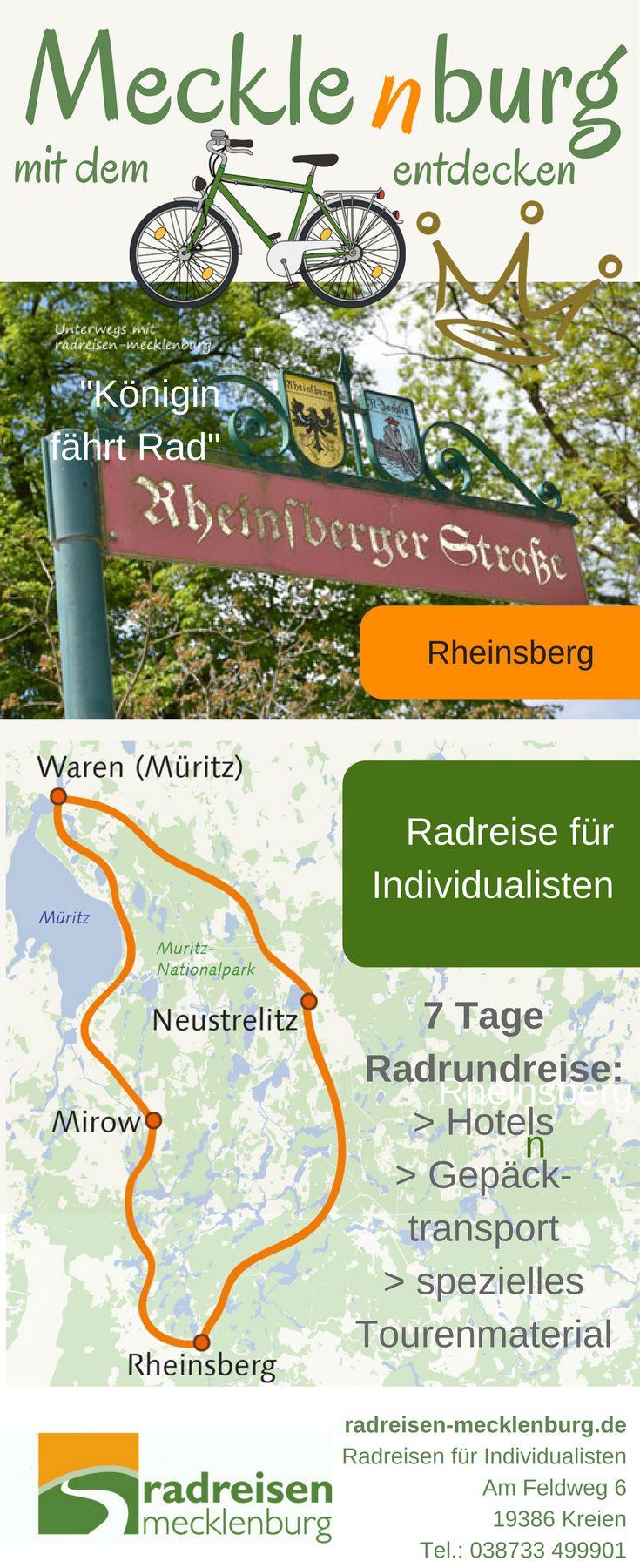 Neue #Reise 2018: Von der Müritz in die Mark Brandenburg. Radreise in 7 Tagen mit Gepäcktransport für Individualisten #urlaub #deutschland #radreise