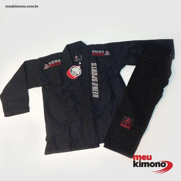 Marca: Keiko Indicado para iniciantes e praticantes intermediários de  JIU JITSU  por sua leveza, resistência e conforto.Trançado leve 430 g/m². NÃO ACOMPANHA FAIXA.   COMPRE AGORA:http://www.meukimono.com.br/jiu-jitsu/445-kimono-jiu-jitsu-preto-juvenil-pro-keiko-infantil.html