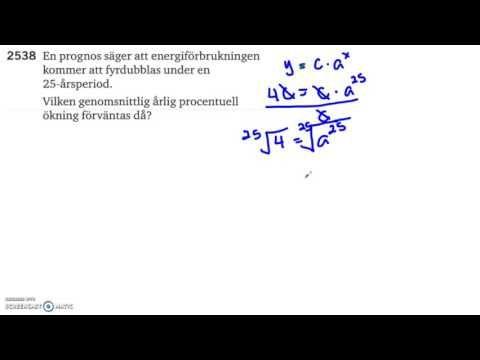 Matematik 5000   Kapitel 2   Exponential  och potensekvationer    Tilläm...
